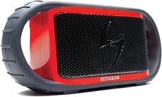 ECOXGEAR ECOXBT Rugged and Waterproof Wireless Bluetooth Speaker (Red) * Learn more by visiting the image link.
