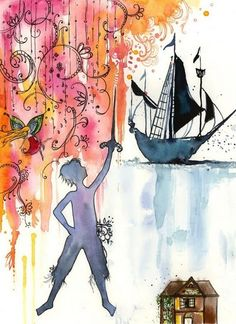 Peter Pan and Tinkerbell-Neverland-Large Archival Print Disney Love, Disney Art, Disney Stuff, Peter Pan Neverland, Peter Pan And Tinkerbell, Tinkerbell Disney, Peter Pan Nursery, Lost Boys, Louvre