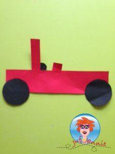 Auto van papier – knutselen met kinderen