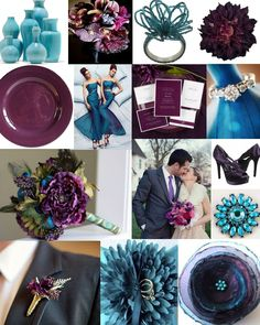 pintrest wedding ideas with plum colors | Plum And Teal And Turquoise Wedding Inspiration | 2 Chic Events ...