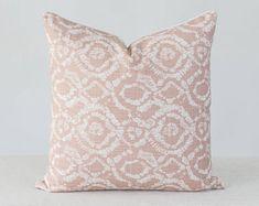 Blush Pillow Cover Light Pink Pillow Covers, Pink Texture Pillow Cover, Pink Tassel Pillow, Blush Pink Pillow Cover with Tassels : Blush Pillow Cover Light Pink Pillow Covers Pink Blush Pillows, Boho Throw Pillows, Designer Throw Pillows, Pink Pillow Covers, Pink Texture, Pillow Texture, Flower Pillow, Custom Pillows, Blush Pink