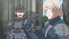 MGS2 Solid Snake & Raiden