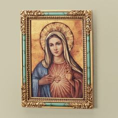 This lovely icon of the Immaculate Heart of Mary is such a nice size. It's not too large, but it's not tiny, either. Perfect to adorn your home with.