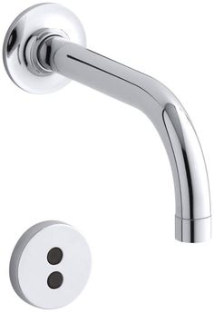 Kohler K-T11841 Purist Wall Mount Bathroom Faucet - Without Drain Assembly Polished Chrome Faucet Lavatory Electronic