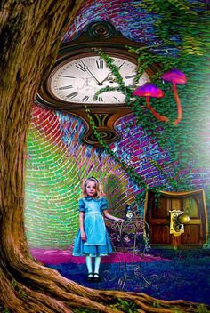 Would love to have this somewhere in my house. #AliceinWonderland #trippy