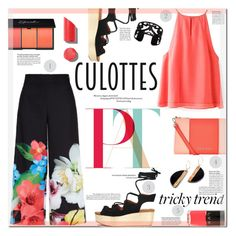 """""""Chic Culottes"""" by suzanne228 ❤ liked on Polyvore featuring Ted Baker, Armani Jeans, See by Chloé, LVX, Lisa August, Chanel, TrickyTrend and culottes"""