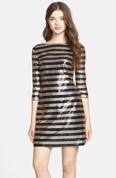 Stripe Sequin Shift Dress - @nordstrom #nordstrom