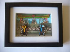 Mortal Kombat Arcade 3D Shadow Box Diorama Art  Arcade Pixel Art MK
