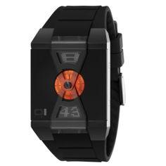 Reloj Digital The One modelo X-Watch, esfera negra con pieza central en color naranja y correa de policarbonato antialérgico negro  http://www.tutunca.es/reloj-the-one-x-watch-negro-naranja