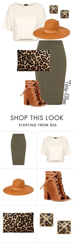 """""""A Little Leopard"""" by terra-glam ❤ liked on Polyvore featuring Lipsy, Topshop, Gianvito Rossi and Belle Noel by Kim Kardashian"""