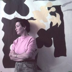 "set objectivity aside and take up pure abstraction  Perle Fine working in her Provincetown studio in 1952. ""The Prescience Series"""