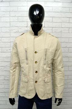 Dettagli su Giubbino Uomo ARMANI JEANS Taglia XL Giacca Giubbotto Jacket  Man Beige Cotone b22fe2e8e85