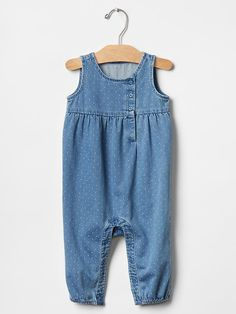 1969 dot denim one-piece Product Image