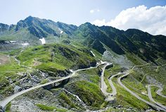 Romania's Transfagarasan Road is a high-altitude thrill ride. Literary (and vampire) fans will also enjoy passing by Poenari Castle, the former residence of the infamous prince Vlad III, who served as the inspiration for Bram Stoker's Count Dracula. Great Places, Places To See, Beautiful Places, Amazing Places, Travel Pictures, Travel Photos, Travel Ideas, Places To Travel, Travel Destinations
