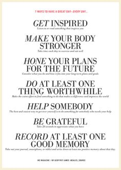 7 ways to have a great day everyday.... | The Art of Ivanka Trump