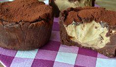 Nepečené čokoládové dortíky s krémovou náplní