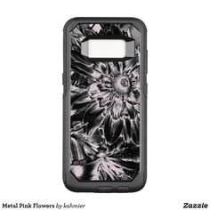 Metal Pink Flowers OtterBox Commuter Samsung Galaxy S8 Case  25% Off #leatherwooddesign #zazzle