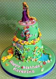 Rapunzel cake... I'm more impressed by the name on the cake. It's not often that you see that. @Vetta Pierson