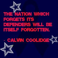 """Sorry, Mr. Coolidge, but it should be """"The nation that forgets..."""""""