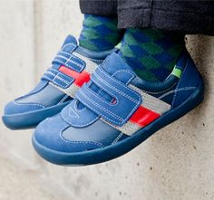 See Kai Run Kailoh Blue Boys Shoes from seekairun.com - cool baby shoes, toddler shoes, kids shoes and baby booties.