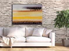 Chocolate brown and sunny atmospheres! A rustic abstract art print by FraBor