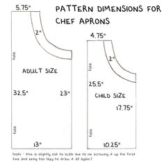 trendy sewing for beginners apron children Childrens Apron Pattern, Apron Pattern Free, Sewing Patterns Free, Free Sewing, Child Apron Pattern, Vintage Apron Pattern, Pattern Sewing, Dress Patterns, Kids Apron Patterns