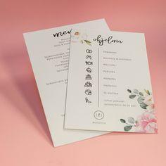Painoimme kätevät ohjelmakortit, joissa toistuu hääkutsuihin painettu kukkaisteema. Materiaalina Munken Polar kartonki. #painopirttioy #häät #infokortti #ohjelmakortti #hääkutsu #wedding Dj