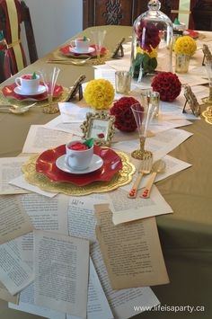 Beauty and the Beast Party Table