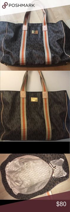 MK LARGE TOTE Authentic Michael KORS large tote back, gently used MICHAEL Michael Kors Bags Totes