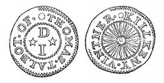 Aquilla Smith's engraving of the 17th C tradesman's token - Thomas Talbot, Kilkenny