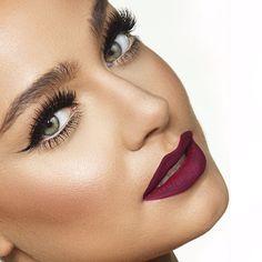 makeupbyanna's photo on Instagram. Love the dark lipstick