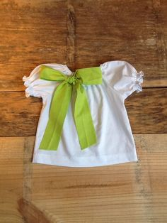Girls St. Patty's Day peasant shirt with by EverythingSorella, $32.50