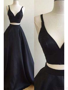 black prom dresses, prom dress two pieces #promdresses #SIMIBridal