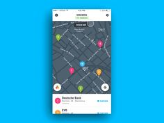 Map list interaction