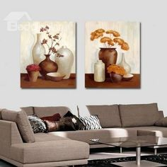 New Arrival Oil-painting Style Lovely Brown and White Vases Print Cross Film Wall Art Prints Clay Wall Art, Canvas Wall Art, Wall Art Prints, Home Wall Decor, Art Decor, Emboss Painting, Painting Abstract, Multiple Canvas Paintings, 3 Piece Art