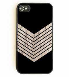 Faux Wood Chevron & Black iPhone Case | Collections Pack Your Bags | On Your Case | Scoutmob Shoppe | Product Detail
