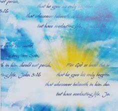 Religious Fabric Benartex Script God Loved the World 5199 bf