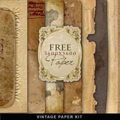 Freebies Kit of Vintage Paper:Far Far Hill - Free database of digital illustrations and papers
