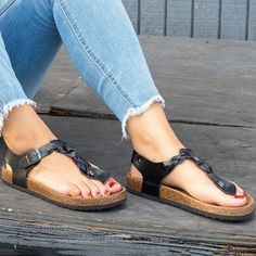 Women's flat-toed casual sandals – chicwestyle Sandals & Slippers sandals plus size sandals plus size outfit sandals plus size summer outfits sandals summer sandals outfit sandals 2019 trends platform Sandals strappy Sandals Sandals boho Sandals 2019 Flipflops, Peep Toe, Block Sandals, Beach Shoes, Golf Shoes, Luxury Shoes, Strap Heels, Ankle Strap, Womens Flats