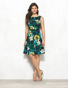 db Signature™ Tropical Floral Darby Dress