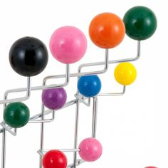 Chrome Eames Hang It All with Multi-coloured balls | Cult Furniture