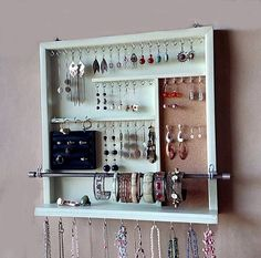 Jewelry organizer. earrings holder. jewelery rack necklace #studearringsholder