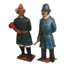 Vintage English Bobby Police Fire Brigrade Wall Plaques ***ALSO SEE Vintage Jewelry at: http://MyClassicJewelry.com/shop