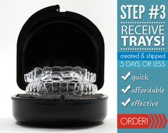 Receive your custom fitted teeth whitening trays, and begin your teeth whitening process!