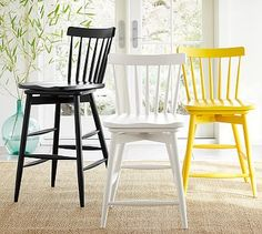 May have access to 3 counter-height stools that look like less modern versions of this in a light wood tone (hand-me-downs)