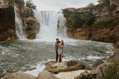 Engagement Photos at Lundbreck Falls in Crowsnest Pass with the couples' dogs in the pictures. Photos by Havilah Heger Photography Banff National Park, National Parks, My Favorite Part, Engagement Shoots, How Beautiful, Engagements, I Love Dogs, Hanging Out, Big Day