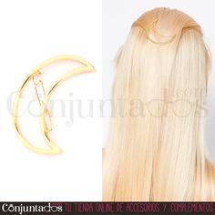 El pasador de pelo Luna es un coqueto adorno para tu pelo. Separa un pequeño mechón de pelo y sujétalo con este accesorio tan ideal ★ Precio: 4'95 € en http://www.conjuntados.com/es/para-tu-pelo/pasadores-y-horquillas/pasador-de-pelo-luna.html ★ #novedades #paratupelo #pasador #luna #hair #accesorios #complementos #estilo #style #moda #fashion #bisuteria #jewelry #GustosParaTodas #ParaTodosLosGustos