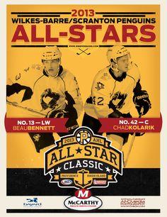2013 WBS Penguins All-Star Poster by Jason Vogel, via Behance
