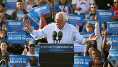Huffington Post; (Like it's the first time) Bernie Sanders Gives A Speech Divorced From Reality He rallied supporters with a typical stump speech in Washington ahead of next week's primary — the last of the season.