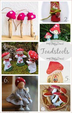 Beneath the Rowan Tree: Waldorf Tuesday :: Toadstools